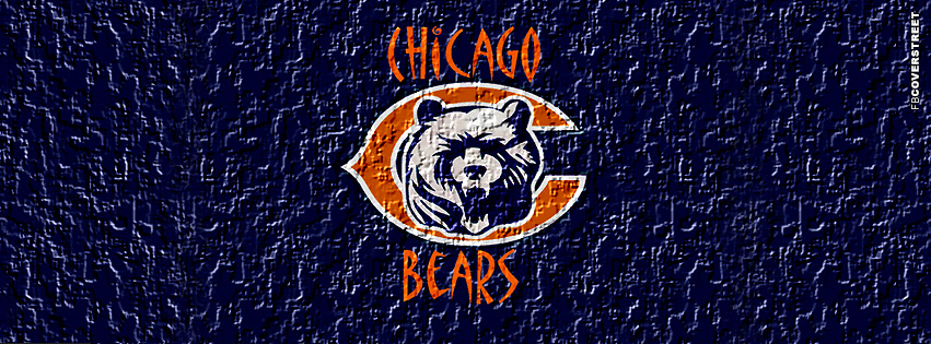 Chicago Bears Embossed Logo Facebook cover