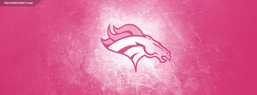 Denver Broncos Pink Logo Facebook cover