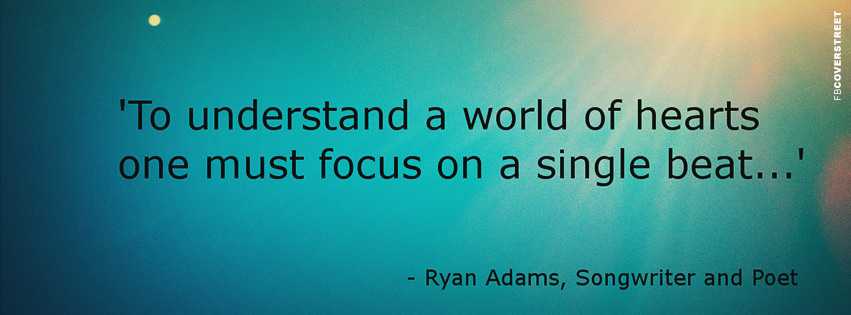 Focus On A Single Beat Quote Facebook cover