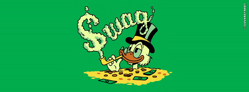 Scrooge McDuck Swag Smoke  Facebook Cover