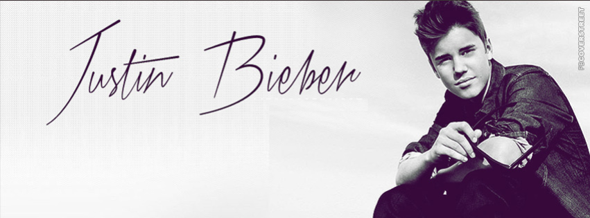 Justin Bieber Smiling  Facebook cover