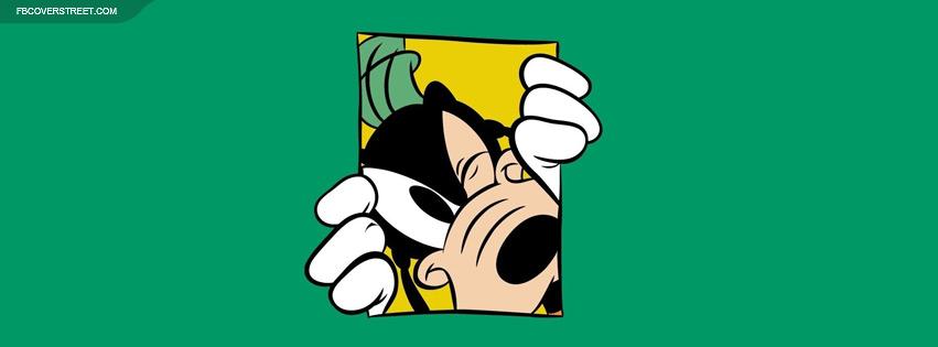 Goofy Peeking Through Facebook cover