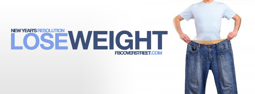 New Years Resolution Lose Weight Male Facebook cover