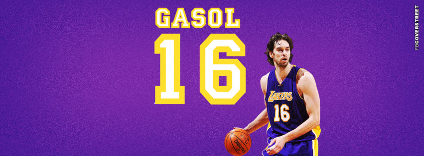 Los Angeles Lakers Pau Gasol  Facebook cover