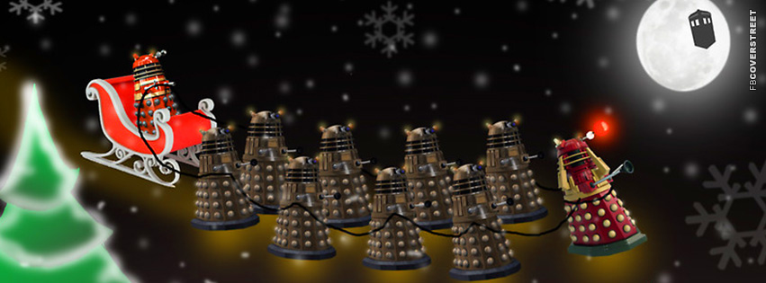 Dalek Dr Who Christmas  Facebook Cover