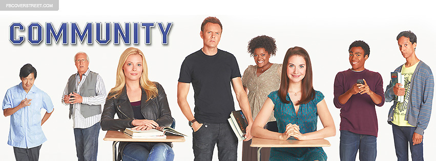 Community tv show main cast 2 facebook cover for Community tv show pool episode