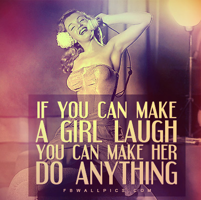 Marilyn Monroe Make A Girl Laugh Quote Facebook picture