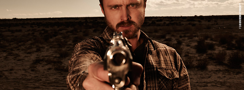Breaking Bad Jesse Pinkman Aiming Photograph Facebook Cover