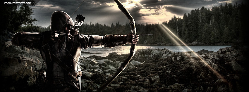 Assassins Creed III Bow And Arrow  Facebook Cover