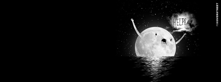 Drowing Moon  Facebook Cover