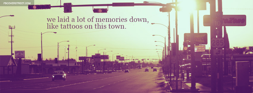 Jason Aldean Tattoos On The Town Lyrics Quote City Facebook Cover