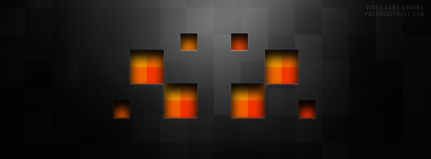 Minecraft Spider Face Facebook cover
