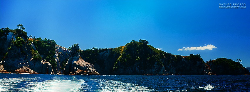 Gorgeous Tropical Island Facebook cover