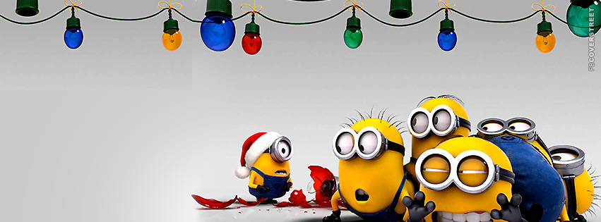 Minions Laughing at a Broken Ornament  Facebook Cover