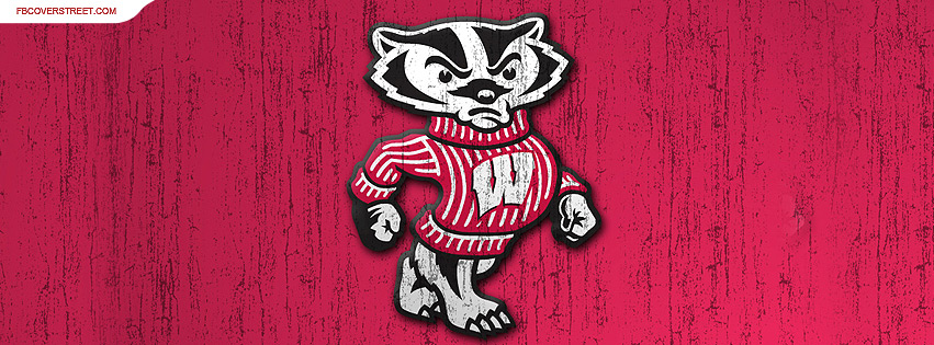 University of Wisconsin Badgers Rough Logo Facebook cover