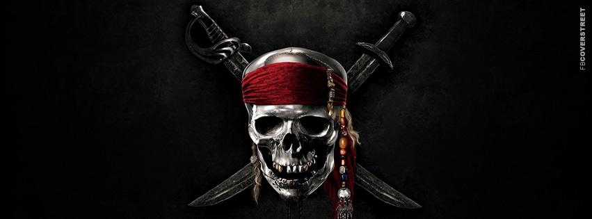 Pirates of The Caribbean Logo Movie Facebook cover