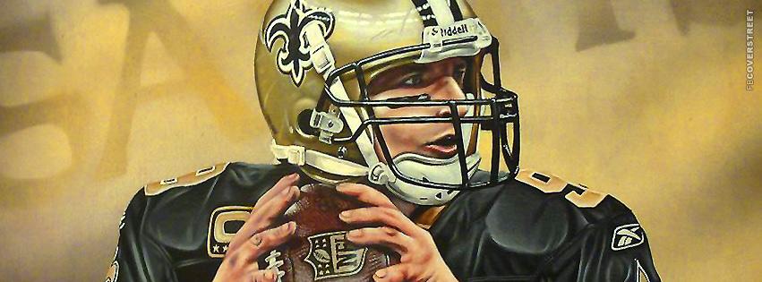 Drew Brees Artwork New Orleans Saints Facebook cover