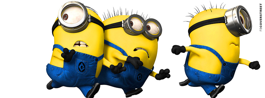 Despicable Me Minions Running  Facebook Cover
