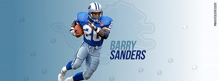 Detroit Lions Barry Sanders Facebook cover