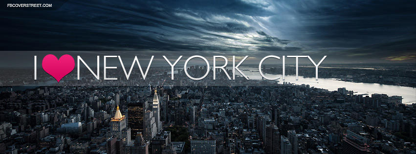 I Heart New York City Dark Stormy Facebook Cover