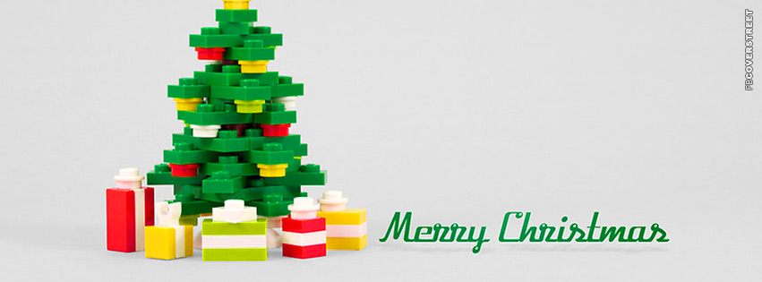 Merry Christmas Message Lego Tree Facebook Cover ...