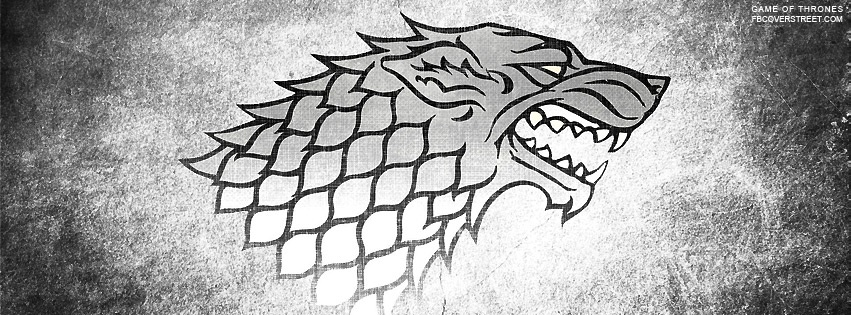 Game of Thrones Winterfell Logo Facebook Cover