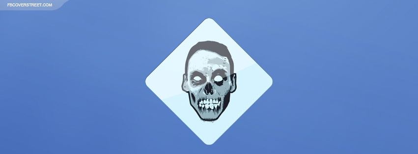 Zombie Face Sign Facebook Cover