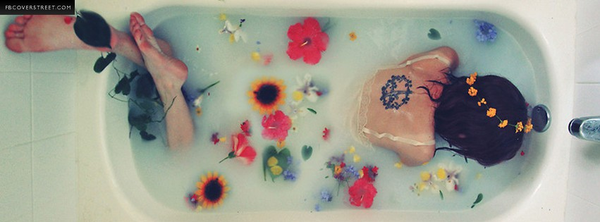 Flower Bath Facebook Cover - FBCoverStreet.com