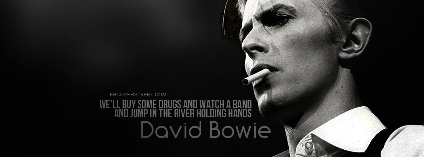 David Bowie Sweet Thing Quote Facebook Cover