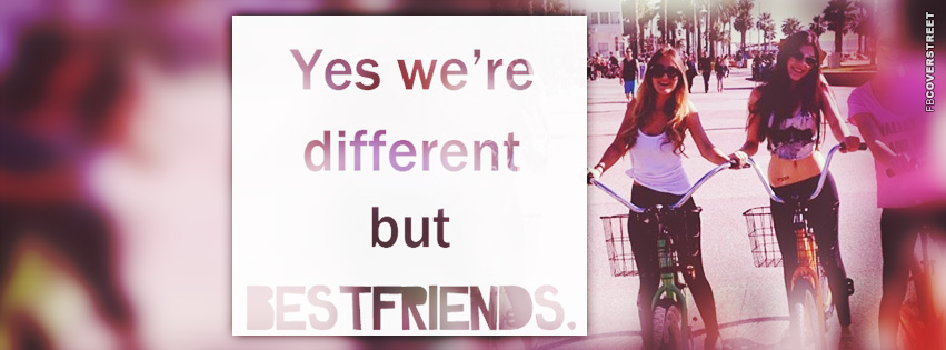 Yes Were Different  Facebook cover