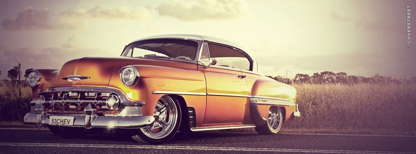 Old Chevy On The Road  Facebook Cover