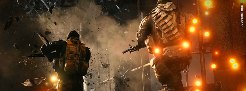Battlefield 3 Escaping Explosions  Facebook Cover
