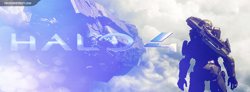 Halo 4 Massive Ship and Master Chief Facebook Cover