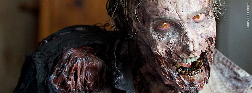 The Walking Dead Zombie Staring  Facebook Cover