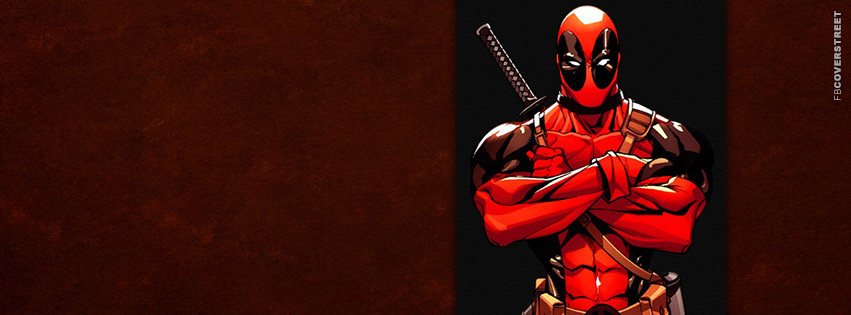 Deadpool Marvel Character  Facebook Cover