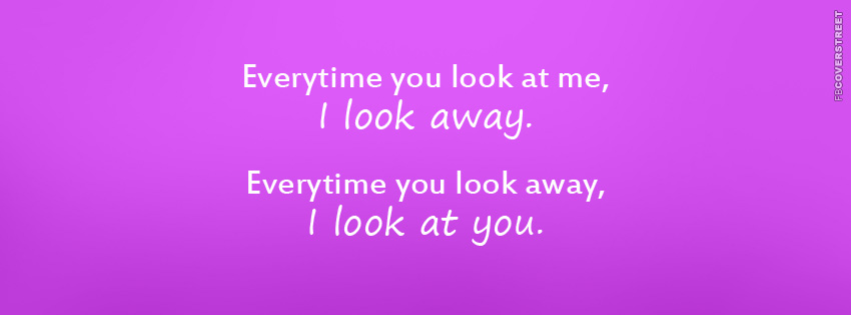 I Look Away  Facebook Cover