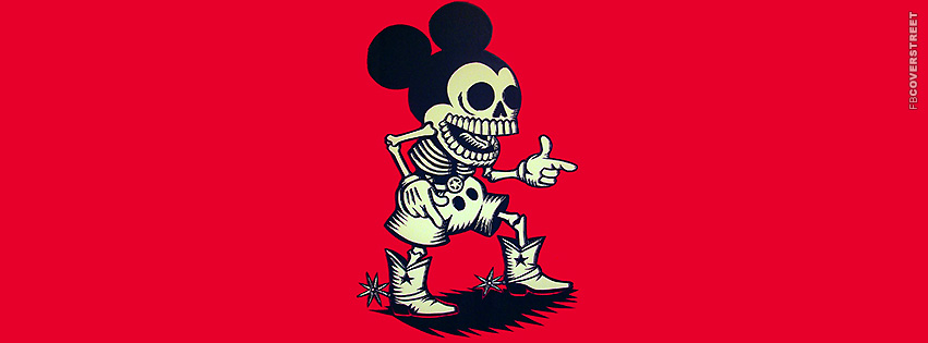 Dead Western Mickey Mouse Facebook Cover