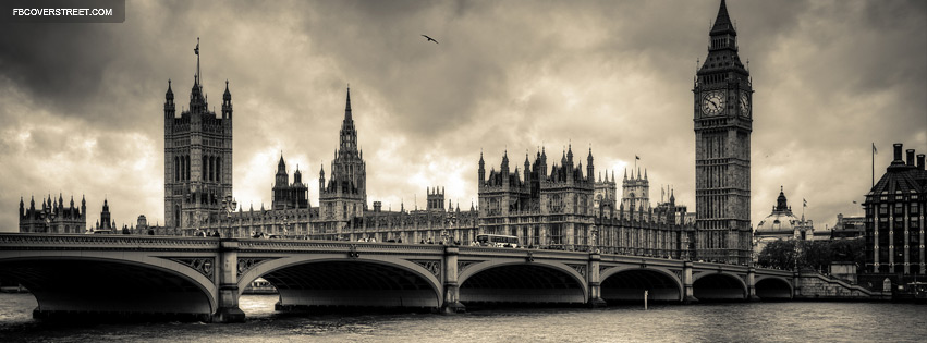 London England Vintage Dramatic Facebook Cover