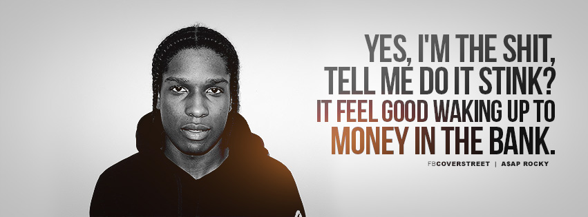 ASAP Rocky Goldie Lyrics Quote Facebook cover