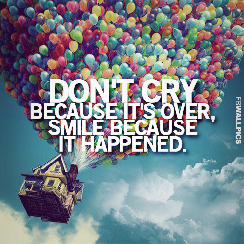 Dont Cry Because Its Over Dr Seuss Inspiring Life Quote Facebook picture
