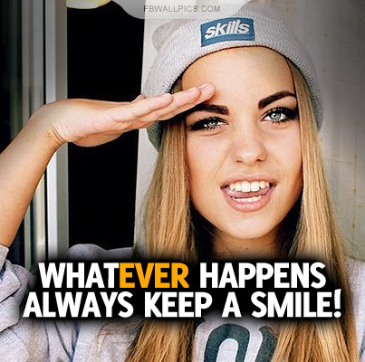 Always Keep A Smile Quote Facebook picture