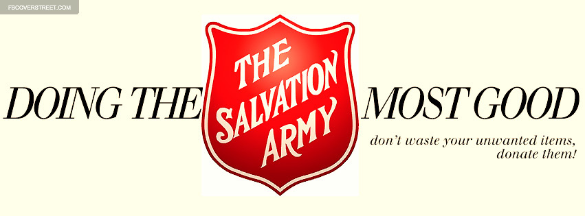 Salvation Army Doing The Most Good Facebook cover