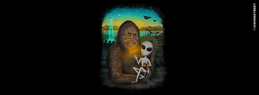 Alien Explaining Genetic Code  Facebook Cover