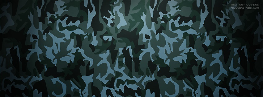 Blue Camo Pattern 2 Facebook Cover