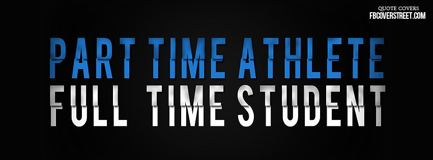 Full Time Student Blue Facebook cover