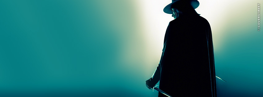 V For Vendetta Knives Movie Facebook Cover