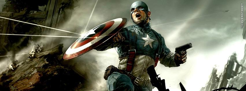 Captain America Battle  Facebook Cover