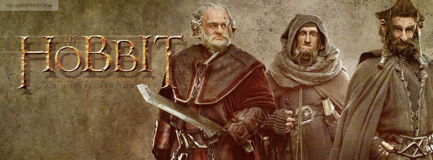 The Hobbit An Unexpected Journey Nori Ori Dori Facebook Cover