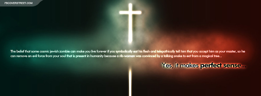 Atheist Oppinion On Christianity Facebook Cover