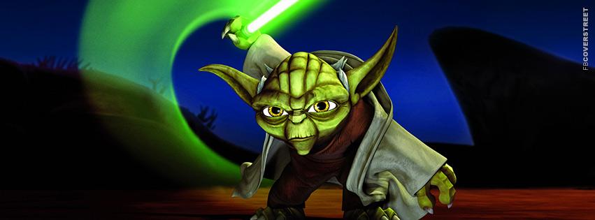 Yoda Cartoon Star Wars Facebook cover